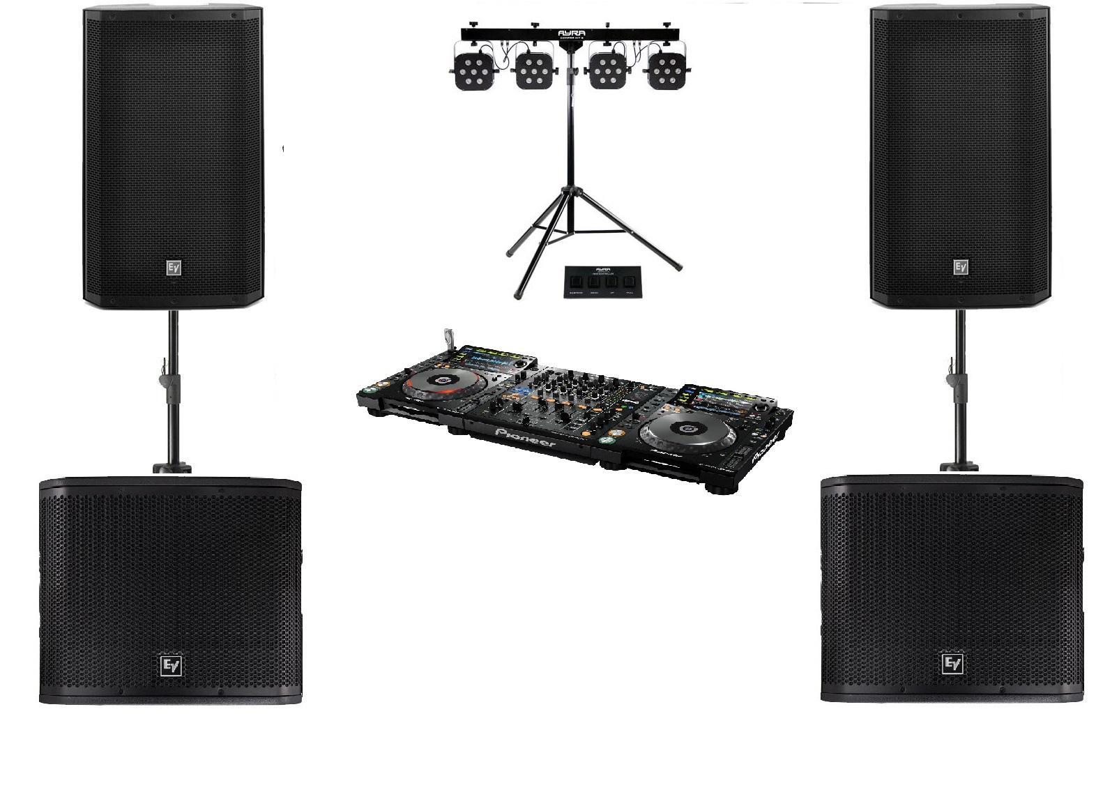 DJ set met geluid en licht
