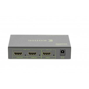 Konig Ultra HD 4K HDMI splitter 1 naar 2 met voedingsadapter