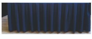 podiumrok blauw geplooid per 4 meter